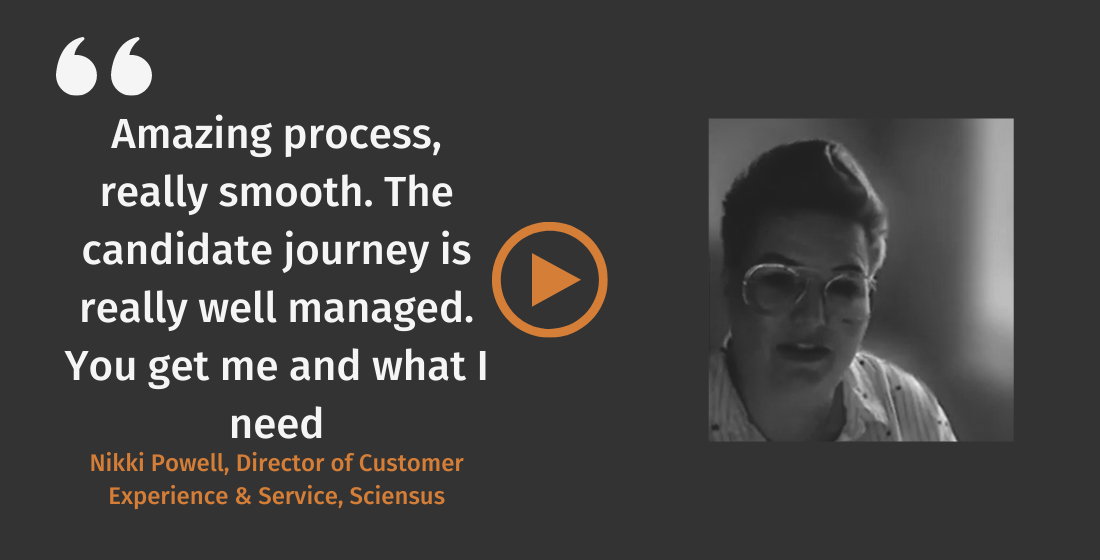 Nikki Powell, Client Feedback Douglas Jackson You get me and what I need the candidate journey is really well managed, amazing process Douglas Jackson